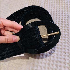 Wide black belt